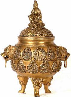 Chinese Buddha, Chinese Art, Sculpture Art, Sculptures, Ethnic Home Decor, Bookshelf Design, Asian Decor, Guanyin, Mirror Set