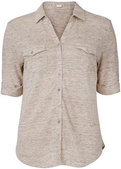 Sandfarvet skjorte 23708 Gustav Shirty t-shirt - powder