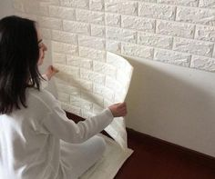 The self-adhesive design offers easy installation and has an awesome 3D brick pattern to bring that natural effect.