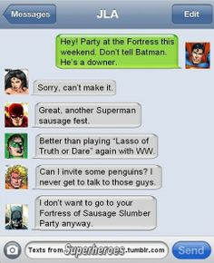 'Texts From Superheroes'