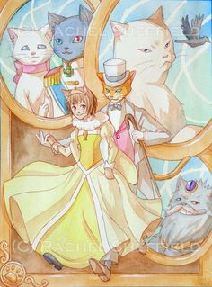 The Cat Returns (Ghibli) - Baron Humbert von Gikkingen x Haru Yoshioka Totoro, Studio Ghibli Art, Studio Ghibli Movies, Hayao Miyazaki, Anime Gifs, Anime Art, Pretty Cure, Gato Anime, The Cat Returns
