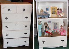 Upcycle Us: Upcycling a dresser into a Barbie Doll House