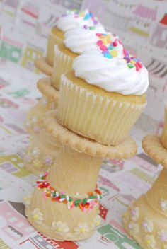 Genial soporte para cupcakes comestible