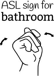 EC Article: ASL sign for bathroom, elimination communication for babies to cut down on diaper usage and promote early potty training.
