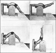 Joseph Pilates on the ladder barrel. #pilates #history #photography. Repinned by Tempo Pilates, www.tempopilates.com