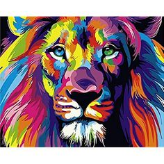 Paint By Number Kits ifymei Paintworks DIY Oil Painting for Kids and Adults (Color Lion)