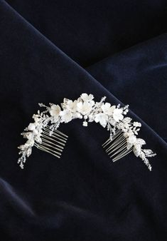 LE POEME headpiece in ivory and silver 6