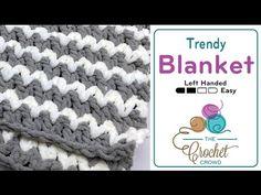 Trendy Crochet Baby Blanket + Tutorial - The Crochet Crowd