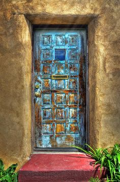 Ken Smith Photography Photograph - A Santa Fe Blue Door by Ken Smith