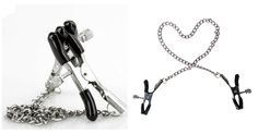 Nipple clamps are a great BDSM erotic sex toy. If you love breast clips, you will definitely love this pair of nipple clips.