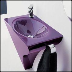 Purple Bathroom Furniture Combination by Novello