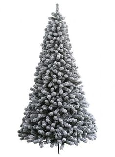 4 king of christmas 5 foot prince flock artificial christmas tree unlit pft5nl
