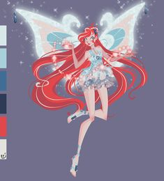 Bloom Enchantix by AkEshiba on DeviantArt Bloom Winx Club, Las Winx, Fire Fairy, Fire Dragon, Club Design, Dark Fantasy Art, Magical Girl, My Childhood, Cute Pictures
