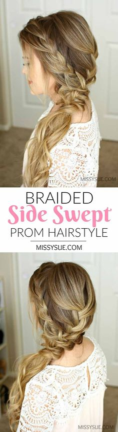 Best Pinterest Hair Tutorials - Braided Side Swept - Check Out These Super Cute And Super Simple Hairstyles From The Best Pinterest Hair Tutorials Including Styles Like Messy Buns And Half Up Half Down Hairdos. Dutch Braids Are Super Hot Right Now Too. These Are The Best Hairstyle Tutorials Ideas On Pinterest Right Now. Easy Hair Up And Hair Down Ideas For Short Hair, Long Hair, and Medium Length Hair. Hair Tutorials For Braids, For Curls, And Step By Step Tutorials For Prom, A Wedding, Or…