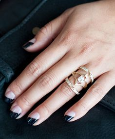 7 Mind-Blowingly Unique Engagement Rings From Cool S.F. Gals #refinery29  http://www.refinery29.com/50103