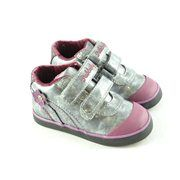 #Zapatos velcro gris flor PABLOSKY #MarlosOnline