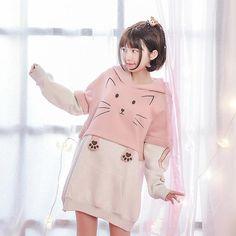 Japanese Mori Girl Cat Pull Over Sweater