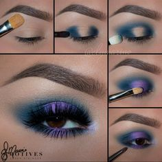 Quiero esta!!!!!!! Purple Eyeshadow, Eyeshadow Looks, Eyeshadow Makeup, Smokey Eye Makeup, Blue Eye Makeup, Eyeshadows, Makeup Cosmetics, Makeup 101, Makeup Goals