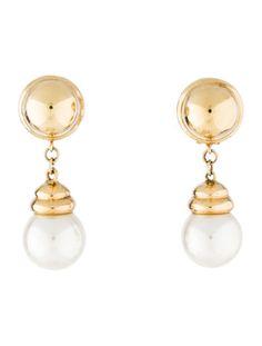 18K Pearl Drop Earrings