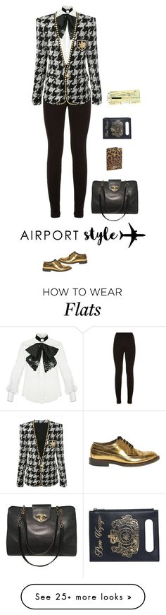 """""""Travel"""" by andreearaiciu on Polyvore featuring Elisabetta Franchi, Theory, Charlotte Olympia, Marni, Dolce&Gabbana, Chanel and Plane"""