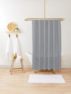 """Ultimate Gray #3"" Shower Curtain by Kettukas 