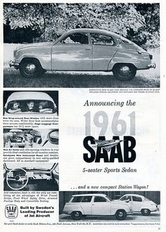 1961 SAAB Sports Sedan and Station Wagon