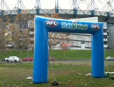 Inflatable arch for Playground fan engagement area