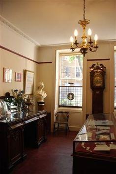 Charles Dickens Museum - Charles Dickens Museum Interior. Love the grandfather clock and dark furniture.