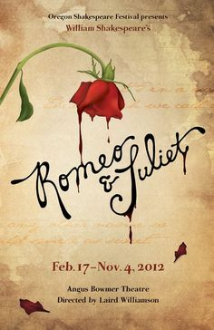 A Romeo & Juliet poster for the Oregon Shakespeare Festival—featuring hand lettering typography William Shakespeare, Shakespeare In Love, Shakespeare Festival, Romeo And Juliet Poster, Romeo And Juliet Drawing, Daughter Of Smoke And Bone, Romeo Y Julieta, Art Festival, Good Books
