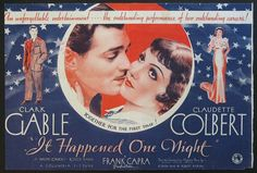 IT HAPPENED ONE NIGHT Movie Poster (1934) || ROMANCE Movie Posters   @ FilmPosters.Com - Vintage Movie Posters and More