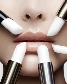 editorial white lips