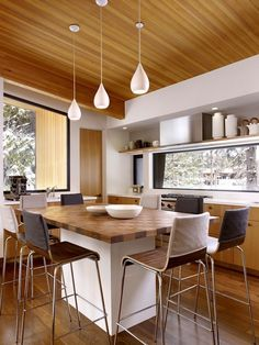 """to get the proper inspiration to decorate and design your Mid Century Kitchen Design. So Checkout Adorable Mid Century Kitchen Design And Ideas To Try"""" Eat In Kitchen, Kitchen Dining, Kitchen Decor, Wooden Kitchen, Dining Area, Dining Table, Kitchen Cupboards, Kitchen Windows, Cheap Kitchen"""