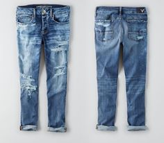 American Eagle Denim x Cafe coffee-infused tom girl jeans.