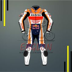 Description Dani Pedrosa Honda Repsol Red Bull Motogp 2016 Leather Suit is designed for professional bikers to show their love toward him and Honda RepsolBike on the track. This suit is made of Cowhide leather with thickness of 1.2-1.3 mm and Schoeller Kevlar Fabric for complete safety and comfort of rider. There is certified carbon …
