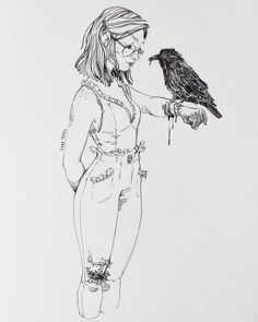 "25.3k Likes, 118 Comments - Sara Tepes | 18 (@sarucatepes) on Instagram: ""Inktober 4/31 Pilot G-Tec-C in 0.25 So many ravens around my dorm so I wanted to draw one. I got a…"""