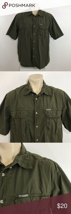 2959d7764ce Columbia fishing hiking shirt green size 2XL Columbia short sleeve hiking fishing  shirt condition : Excellent