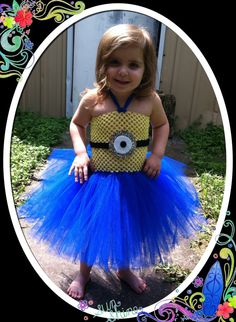 Minion tutu dress by LittleWsTutus on Etsy, $30.00