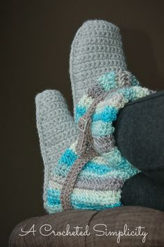 Crochet Pattern: Women's Slouchy Slipper Boots by A Crocheted Simplicity