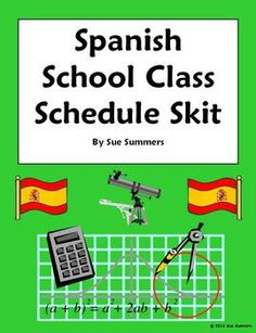 Spanish Class Schedule Phone Conversation Skit / Dialogue / Role Play by Sue Summers - 2 person, 18 line skit