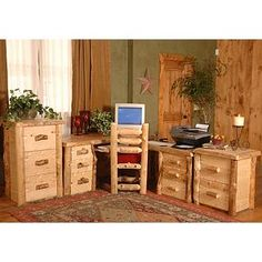This Executive Aspen Desk Is The Ultimate For A Rustic Home Office. The  Classic Executive