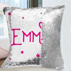 Personalized Sequin Name Pillow Cushion – Gifts For Her, Gifts For Him, Anniversary Gifts, Gifts For Couple, Gifts For Mom, Gifts For Dad #gifts #giftsforher #anniversary #birthday #pillow #cushion #valentines