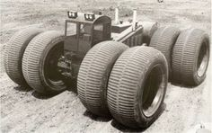 1954 TC-264 SNO-BUGGY powered by a butane fuelled Allison V-1710 engine.It had 8 x 120inch diameter tyres arranged in pairs and powered by 4 electric motors