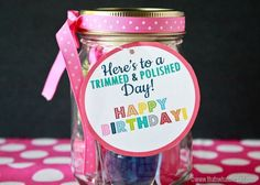 Free Birthday Tags ~ Bubbly birthday classroom gifts with free printable and cut file
