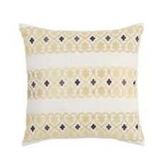 Fantasy Fleur Embroidered Throw Pillow - for living room?