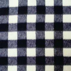 Black Buffalo Plaid Blanket  Plaid Blanket  by ThePreppyPersona