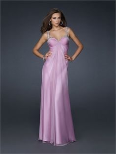Empire Waist Sweetheart Pleated on bust Beaded on Straps Chiffon Prom Dress PD10851 www.dresseshouse.co.uk $119.0000