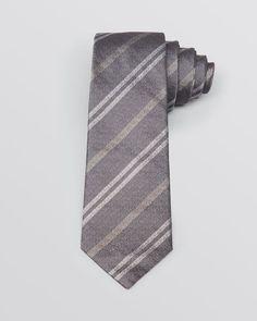 Yves Saint Laurent Sable Stripe Skinny Tie