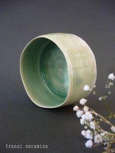 franzi ceramics. #franziceramics #porcelain #ceramic #green