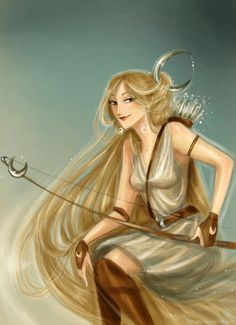 You already know her: Artemis (Artemisa), or Diana for the Romans. She is one of the Olympic gods, the twin sister of Apollo, and daughter of Zeus and L. Artemis Art, Apollo And Artemis, Hunter Of Artemis, Artemis Goddess, Greek Goddess Art, Greek Gods And Goddesses, Greek And Roman Mythology, Artemis Aesthetic, Apollo Aesthetic