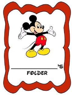 Mickey Mouse themed folder/binder cover sheets in black and white and color.   Do you need your cover sheet to say something more specific to your classroom needs?  I can customize.  Email me at debra.wallace@campbell.kyschools.us or ask a question on this site.
